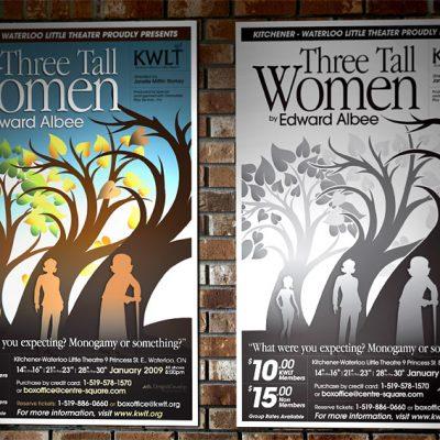 KWLT Poster: Three Tall Women