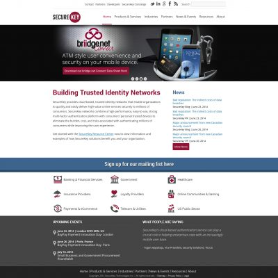 SecureKey Website